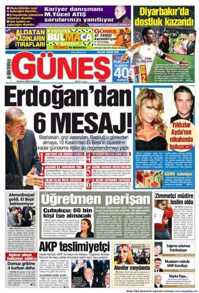 Gazete manşetleri (9 Kasım) galerisi resim 11