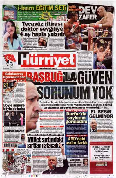 Gazete manşetleri (9 Kasım) galerisi resim 13