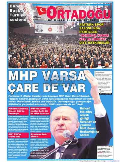 Gazete manşetleri (9 Kasım) galerisi resim 16