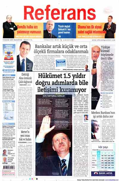 Gazete manşetleri (9 Kasım) galerisi resim 19