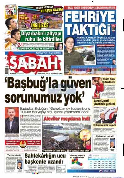 Gazete manşetleri (9 Kasım) galerisi resim 20