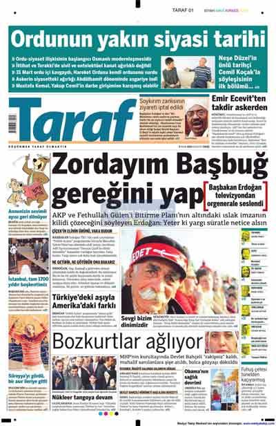 Gazete manşetleri (9 Kasım) galerisi resim 23