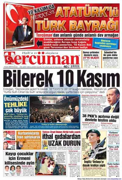 Gazete manşetleri (9 Kasım) galerisi resim 24