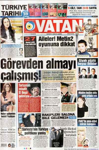 Gazete manşetleri (9 Kasım) galerisi resim 28