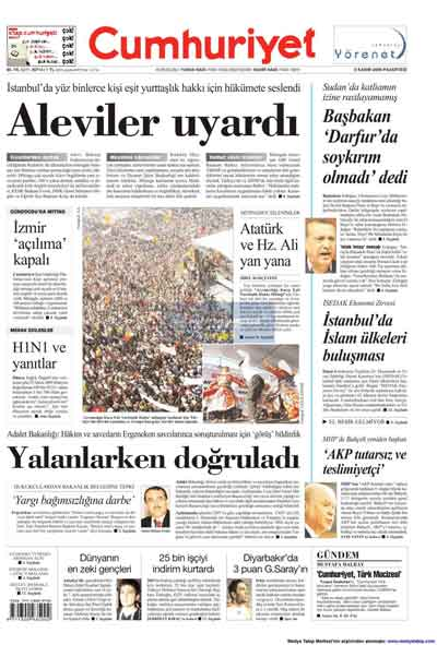 Gazete manşetleri (9 Kasım) galerisi resim 4