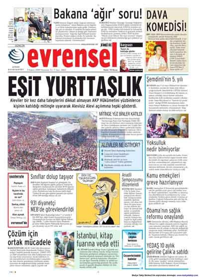Gazete manşetleri (9 Kasım) galerisi resim 6