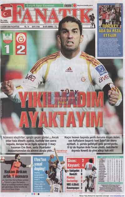 Gazete manşetleri (9 Kasım) galerisi resim 7