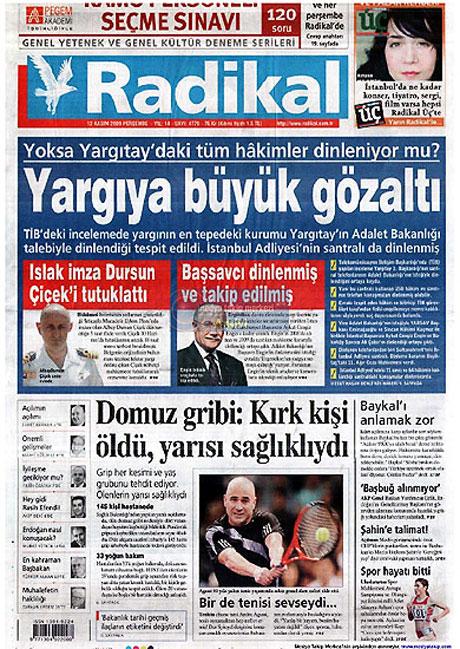 Gazetelerin Albay Çiçek manşetleri galerisi resim 10