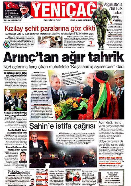 Gazetelerin Albay Çiçek manşetleri galerisi resim 17