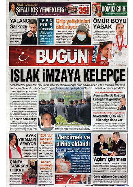 Gazetelerin Albay Çiçek manşetleri galerisi resim 3
