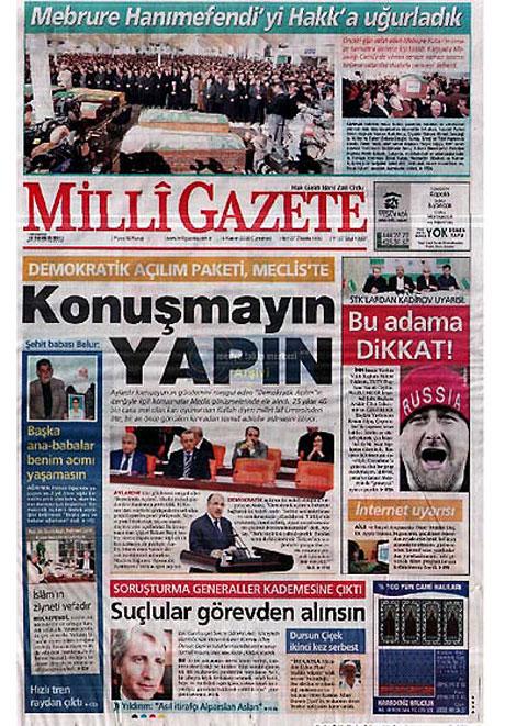Gazetelerin açılım manşetleri galerisi resim 1