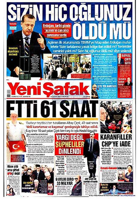 Gazetelerin açılım manşetleri galerisi resim 12