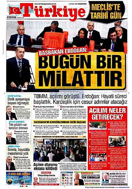 Gazetelerin açılım manşetleri galerisi resim 16
