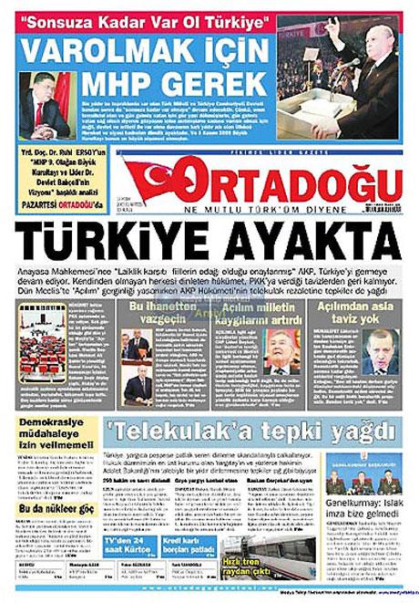 Gazetelerin açılım manşetleri galerisi resim 2