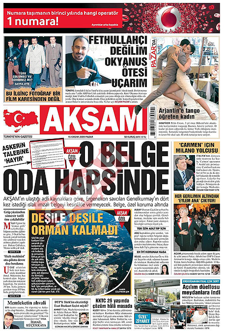 Gazete manşetleri (15 Kasım) galerisi resim 1