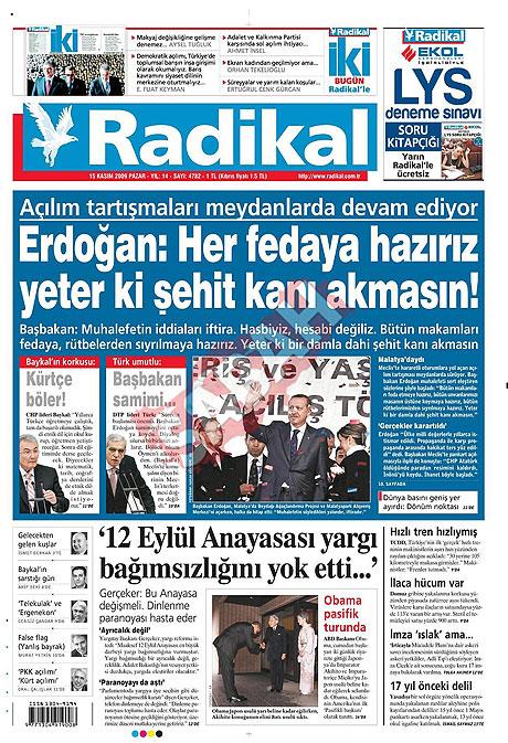 Gazete manşetleri (15 Kasım) galerisi resim 11