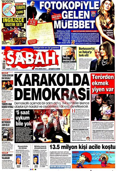 Gazete manşetleri (15 Kasım) galerisi resim 12