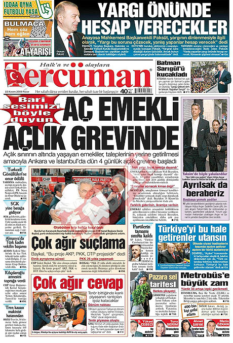 Gazete manşetleri (15 Kasım) galerisi resim 15