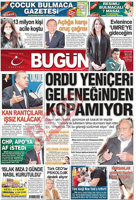 Gazete manşetleri (15 Kasım) galerisi resim 3
