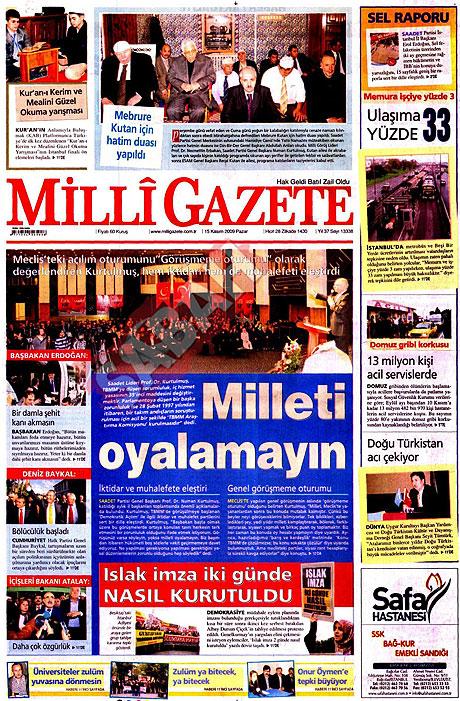 Gazete manşetleri (15 Kasım) galerisi resim 8
