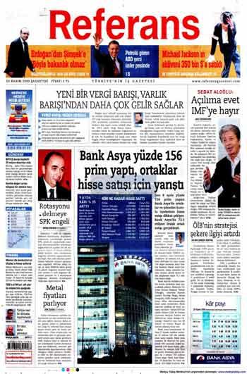 Gazete Manşetleri (23 Kasım) galerisi resim 13