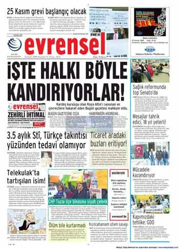 Gazete Manşetleri (23 Kasım) galerisi resim 6