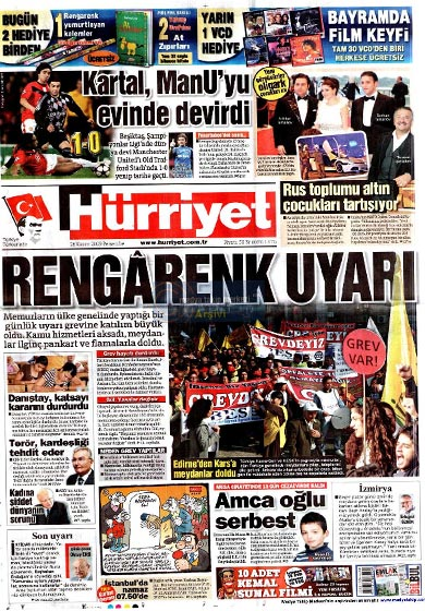 Gazete Manşetleri (26 Kasım) galerisi resim 1