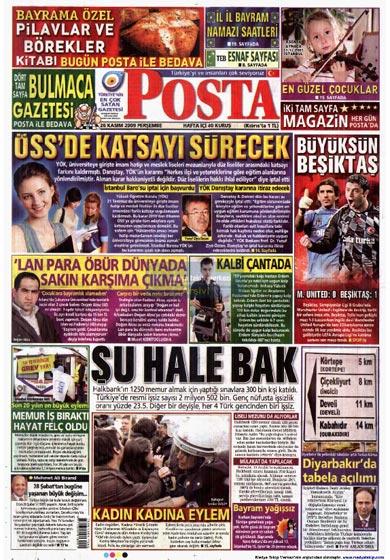 Gazete Manşetleri (26 Kasım) galerisi resim 16