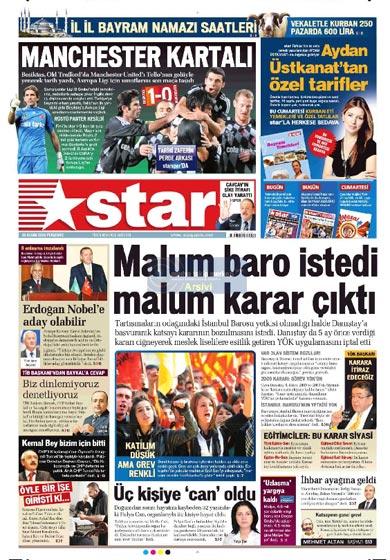 Gazete Manşetleri (26 Kasım) galerisi resim 17