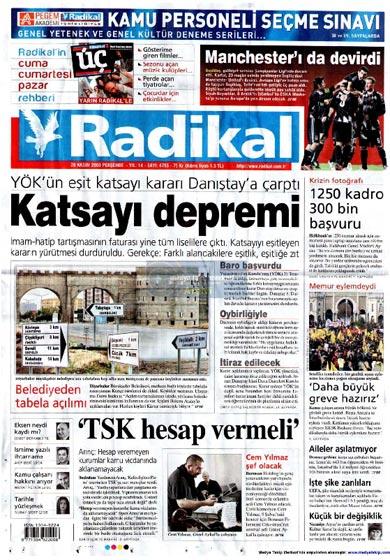 Gazete Manşetleri (26 Kasım) galerisi resim 8