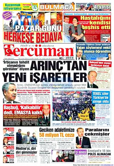 Cübbeliyi manşete hangi gazete çekti? galerisi resim 18