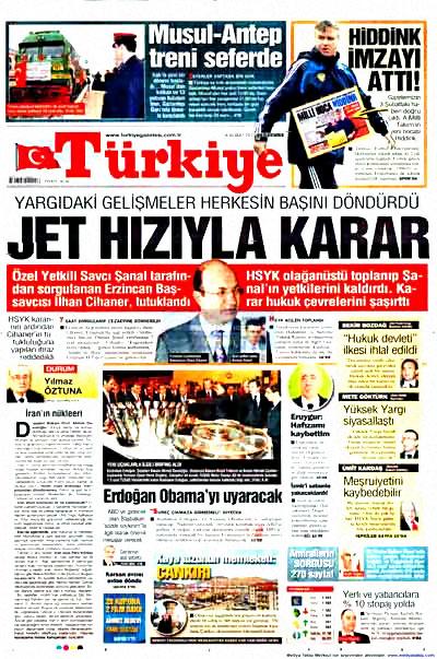 Yargı darbesi gazete manşetlerinde! galerisi resim 15