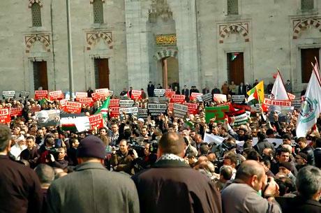 Onbinler İstanbul'da İsrail'i protesto etti! galerisi resim 7