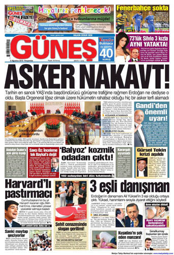 Gazetelerin müthiş YAŞ manşetleri galerisi resim 4