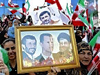 Ahmedinejad Hizbullah mitinginde