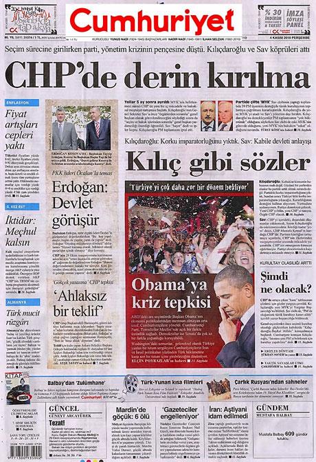 CHP hakkında en ilginç manşetler galerisi resim 4