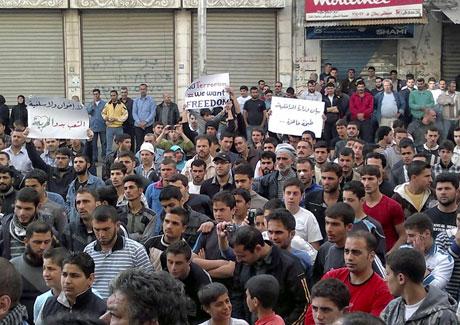 Suriye'de gösteriler büyüyor galerisi resim 40