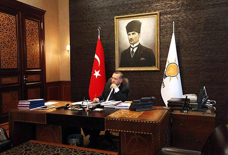 İşte Erdoğan'ın lüks çalışma ofisi galerisi resim 4
