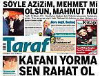 Taraf'ın manşetinde büyük iddia!