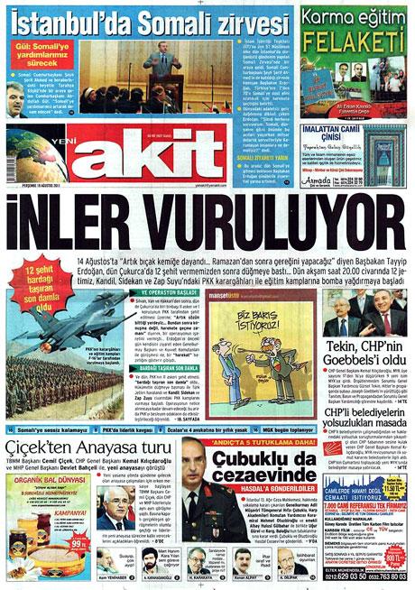 Türk medyasında Kandil manşetleri galerisi resim 22