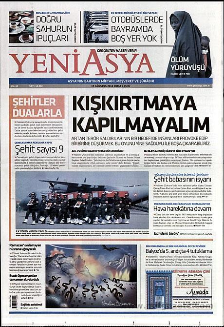 Yeni Şafak'tan BDP'ye manşet'ten cevap! galerisi resim 21