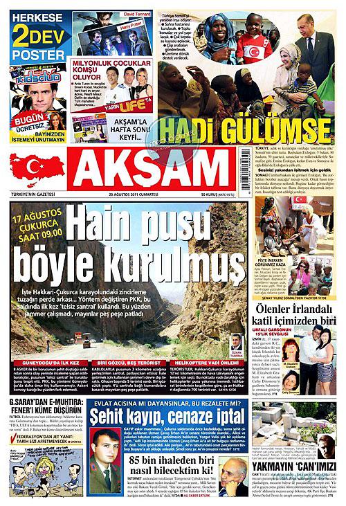 Günün Gazete Manşetleri (20.08.11) galerisi resim 1