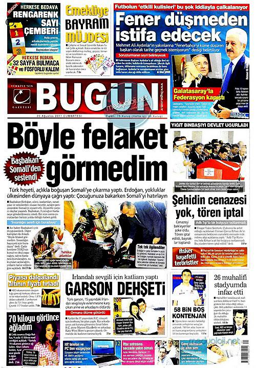 Günün Gazete Manşetleri (20.08.11) galerisi resim 4