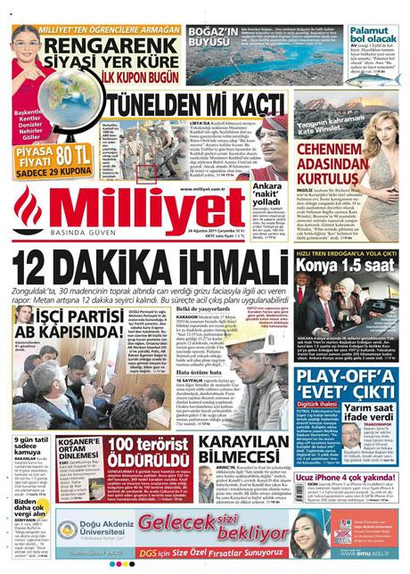 Günün önemli gazete manşetleri (24.08.11) galerisi resim 11