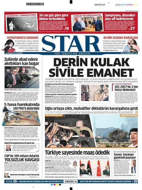 Günün önemli gazete manşetleri (24.08.11) galerisi resim 17