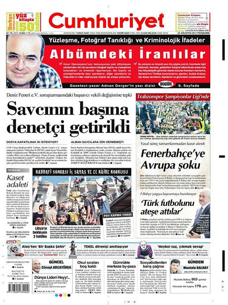 Günün önemli gazete manşetleri (25.08.11) galerisi resim 5