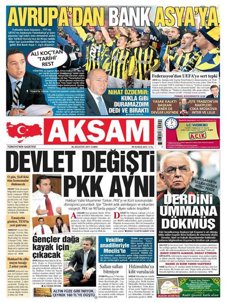 Günün önemli gazete manşetleri (26.08.11) galerisi resim 2