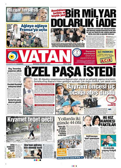 Günün önemli gazete manşetleri (29.08.11) galerisi resim 19