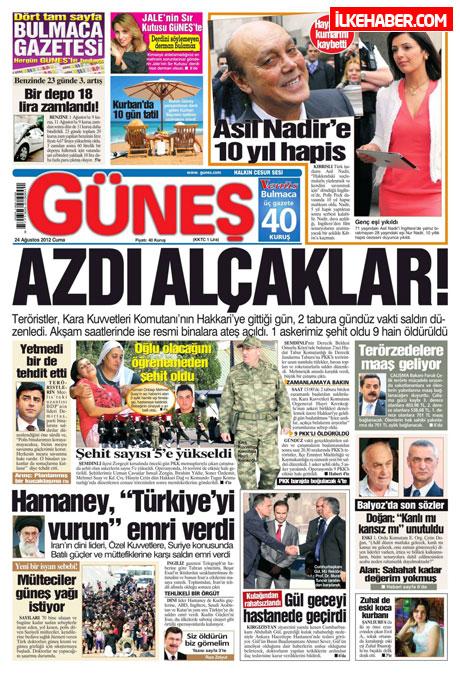 Günün öne çıkan gazete manşetleri galerisi resim 9
