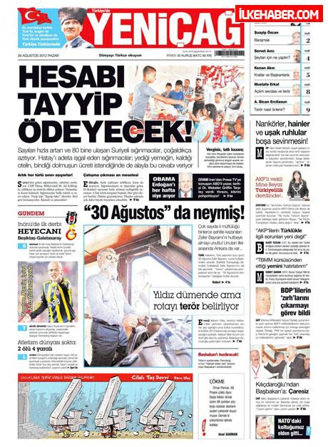 Gazetelerin bugünkü manşetleri ( 25/8) galerisi resim 28